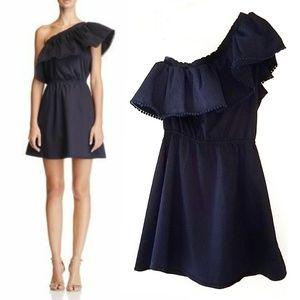 Aqua For Bloomingdale's Ruffle One Shoulder Dress